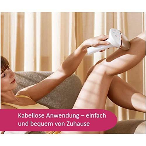 Philips Lumea Prestige IPL Haarentfernungsgerät BRI956 - Lichtbasierte, schmerzlose Haarentfernung für eine dauerhaft glatte Haut - inkl. 4 Aufsätze für Körper, Gesicht, Bikini-Zone & Achseln