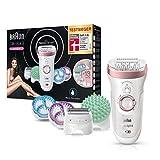 Braun Silk-épil 9 9/990 SkinSpa SensoSmart Epilierer für Damen, mit Andruckkontrolle, Wet&Dry Epilergerät mit 13 Extras, rosegold