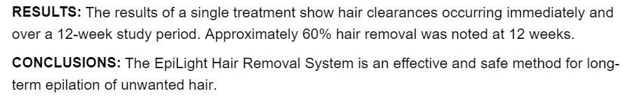IPL Haarentfernung Studien